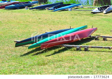 Colorful competitive canoe 17773624