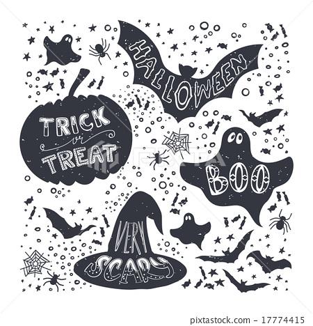 Halloween Symbols - Stock Illustration [17774415] - PIXTA
