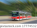 Tram in the city of Prague 17774532