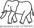 Walking elephant painting 17781441
