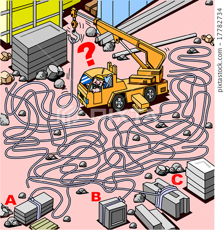 Construction site maze 17782734