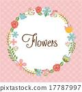 꽃, 원, 디자인 17787997