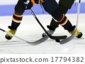 Ice Hockey players on rink 17794382