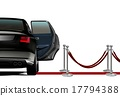 Limousine on Red Carpet Arrival 17794388