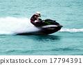 Man on high speed Jet Ski 17794391