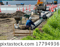 ditch, constructing, construction sites 17794936