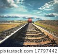 Railroad with a freight train 17797442