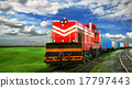 freight train with space for text 17797443