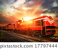 freight train in the morning sunlight 17797444