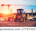 bulldozer on construction site 17797463