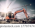 excavator on construction site 17797474
