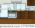 drawing, oven, tea 17797994