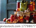 Assortment of preserved food 17798677