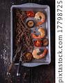 Soba noodles and shrimps 17798725