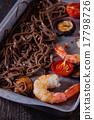Soba noodles and shrimps 17798726