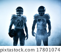 american football players silhouette 17801074