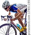 woman triathlon athlete cyclist cycling 17801190
