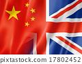 China and UK flag 17802452