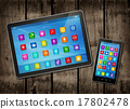 Smartphone and digital tablet PC with desktop icon 17802478