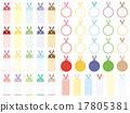 多彩和可爱的书签 17805381