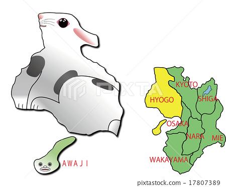 지도 동물 효고 토끼 17807389