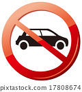 no car no parking sign Vector 17808674