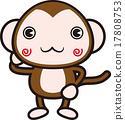 monkey, monkeys, sexagenary 17808753