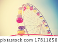 Old film retro style picture of an amusement park. 17811858