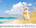 Free Happy Woman Enjoying Sun on Vacations. 17812521