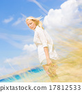 Free Happy Woman Enjoying Sun on Vacations. 17812533