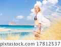 Free Happy Woman Enjoying Sun on Vacations. 17812537