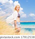 Free Happy Woman Enjoying Sun on Vacations. 17812538