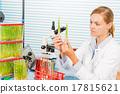Technician in laboratory Research green plants 17815621