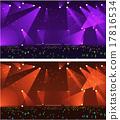 Set of empty stage Rock concert 17816534