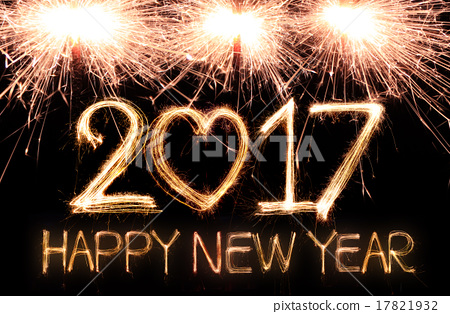 Happy new year 2017 - Stock Photo [17821932] - PIXTA