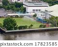 Soccer field river side 17823585