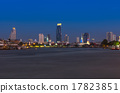 Bangkok cityscape. Bangkok river view at twilight time. 17823851