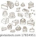케이크, 케익, 벡터 17834951