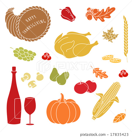 Thanksgiving colorful elements. 17835423