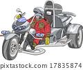 Vector motorcyclist. 17835874