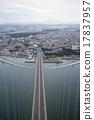 Kobe city seen from Akashi Kaikyo Bridge 17837957