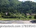 shirakawa-go, shirakawago, having a steep thatched rafter roof 17839543