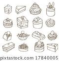 蛋糕 一組 矢量 17840005