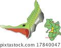 지도 동물 킨키 오사카 악어 17840047