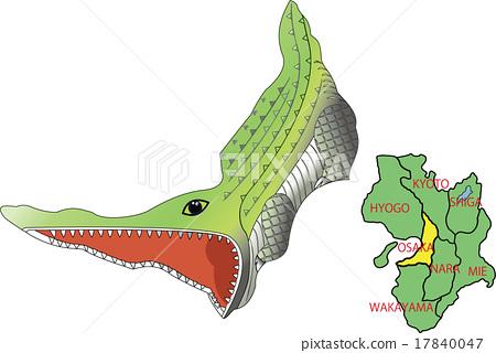 地圖動物近畿大阪鱷魚 17840047