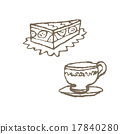 케이크와 차 한잔 17840280