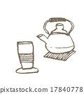 차주 전자와 찻잔 17840778