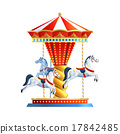 Realistic Carousel Isolated 17842485