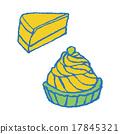 蛋糕 矢量 奶酪蛋糕 17845321