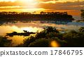 Sunset over beautiful lake region 17846795